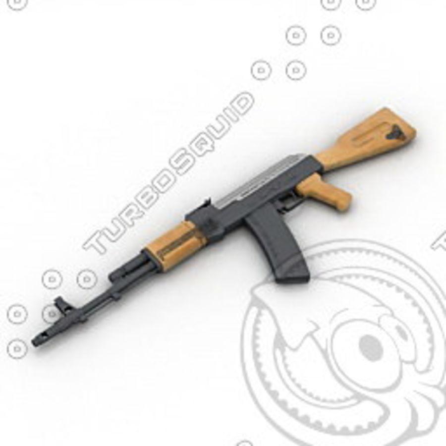 枪AK-47 royalty-free 3d model - Preview no. 1