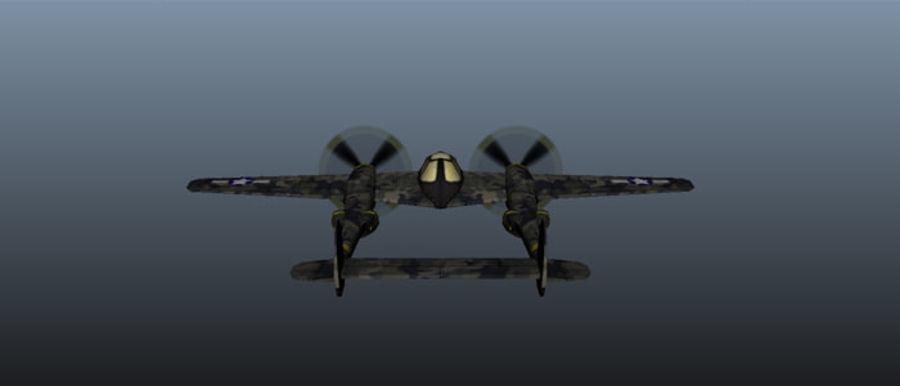 Samolot militarny royalty-free 3d model - Preview no. 2