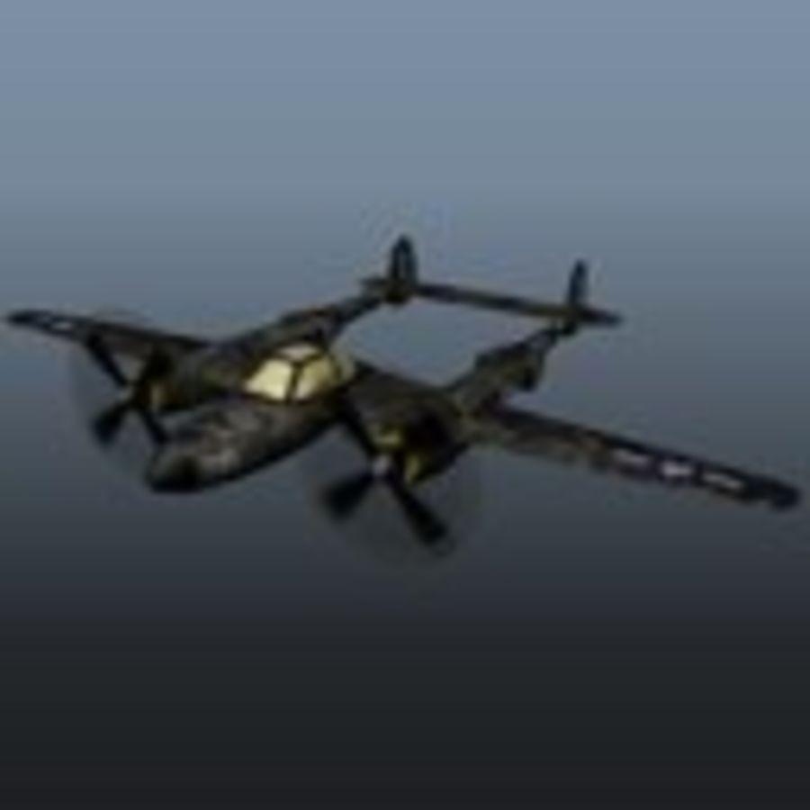 Samolot militarny royalty-free 3d model - Preview no. 5