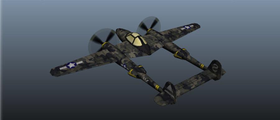 Samolot militarny royalty-free 3d model - Preview no. 1
