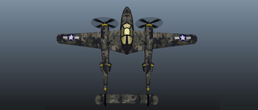 Samolot militarny royalty-free 3d model - Preview no. 3