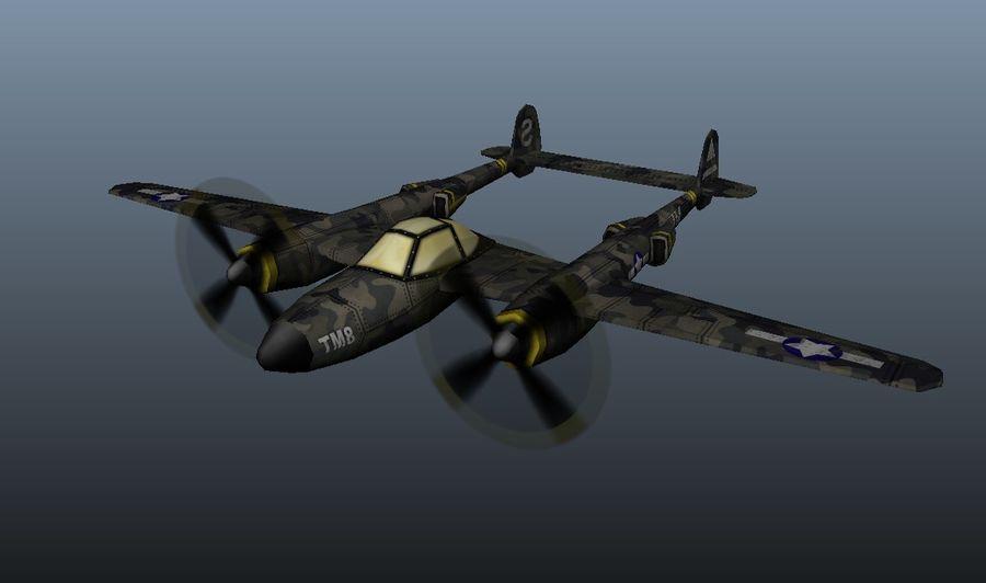 Samolot militarny royalty-free 3d model - Preview no. 6