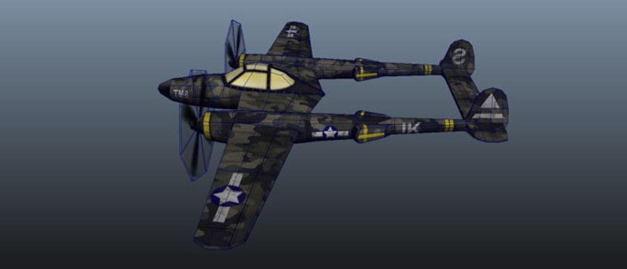 Samolot militarny royalty-free 3d model - Preview no. 4