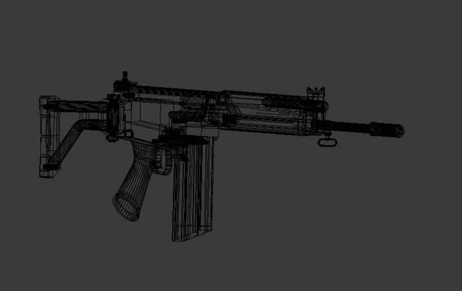 FN FAL royalty-free 3d model - Preview no. 7