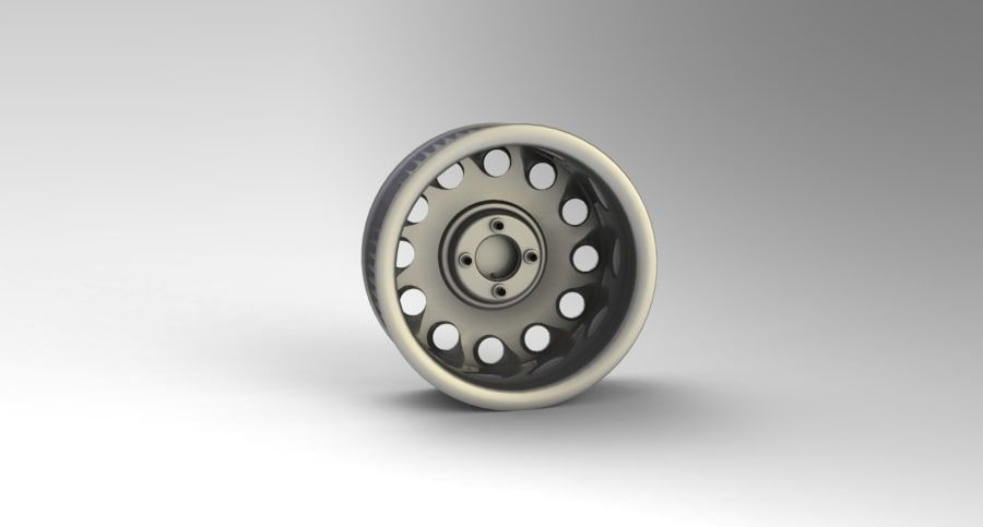 Nissan Silvia Teardrop Wheel royalty-free 3d model - Preview no. 3