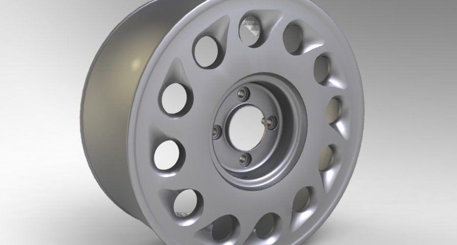 Nissan Silvia Teardrop Wheel royalty-free 3d model - Preview no. 5