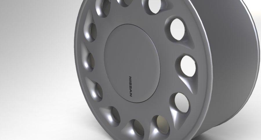 Nissan Silvia Teardrop Wheel royalty-free 3d model - Preview no. 4