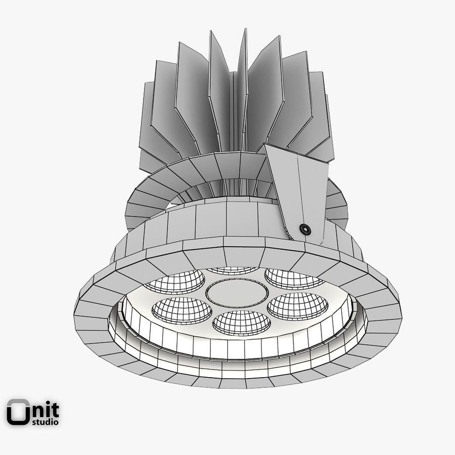 Zumtobel inbouwlamp MICROS-C D95 LED royalty-free 3d model - Preview no. 5