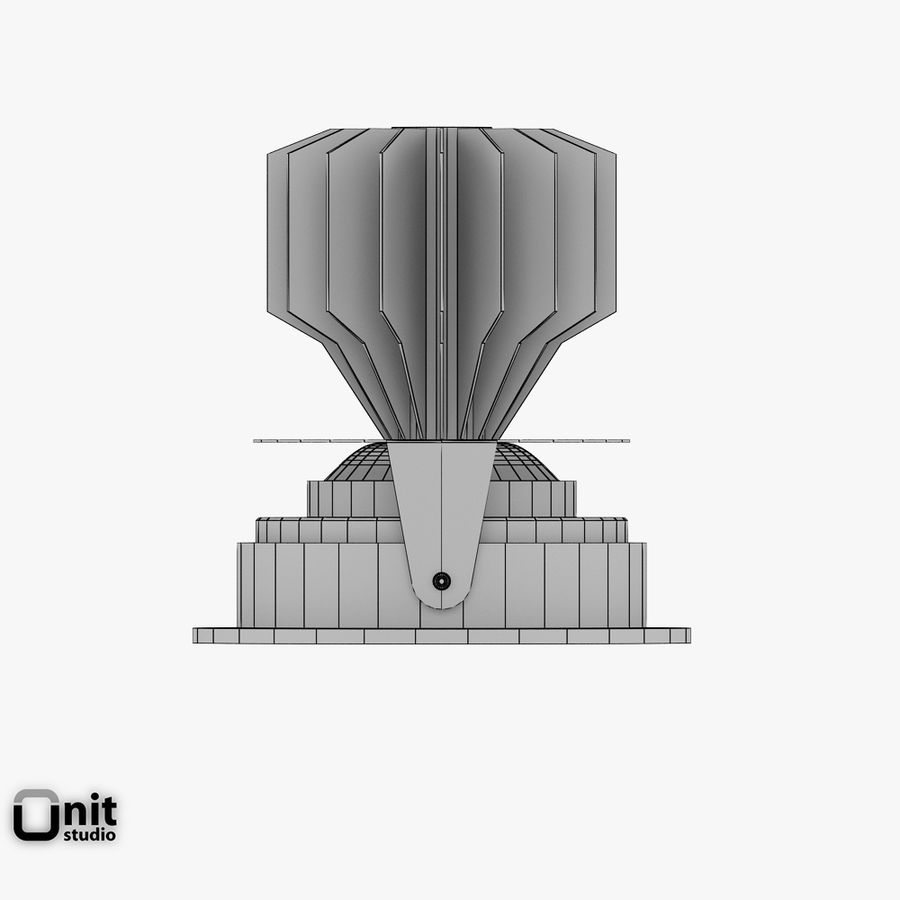 Zumtobel inbouwlamp MICROS-C D95 LED royalty-free 3d model - Preview no. 8