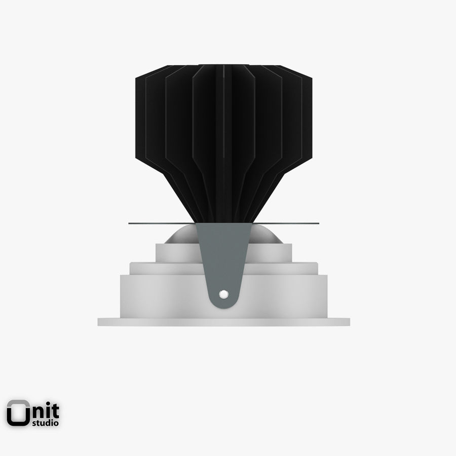 Zumtobel inbouwlamp MICROS-C D95 LED royalty-free 3d model - Preview no. 4