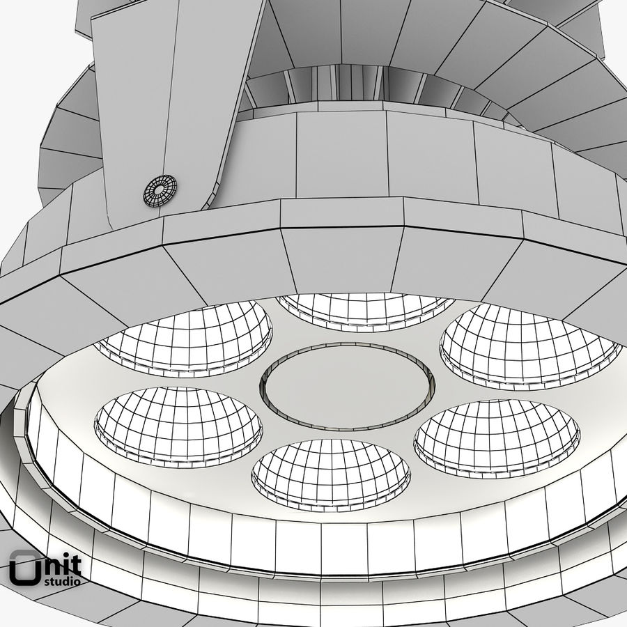 Zumtobel inbouwlamp MICROS-C D95 LED royalty-free 3d model - Preview no. 7