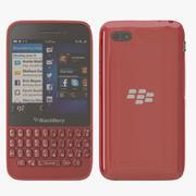 blackberry q5 rouge 3d model
