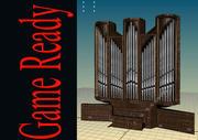 Organo a canne (chiesa) 3d model