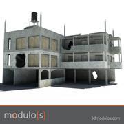 Bâtiment en ruine C 3d model