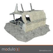 Zniszcz budynek D. 3d model