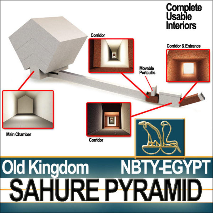 Ancient Egypt Pyramid Sahure royalty-free 3d model - Preview no. 6