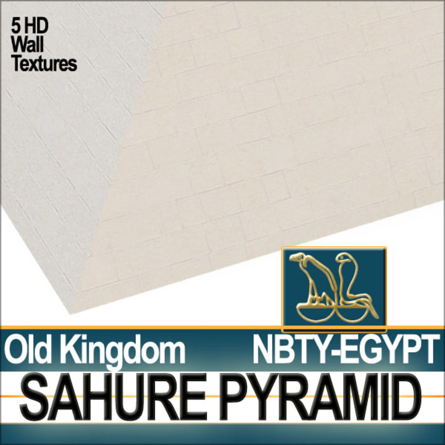 Ancient Egypt Pyramid Sahure royalty-free 3d model - Preview no. 4