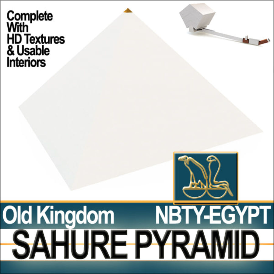 Ancient Egypt Pyramid Sahure royalty-free 3d model - Preview no. 1