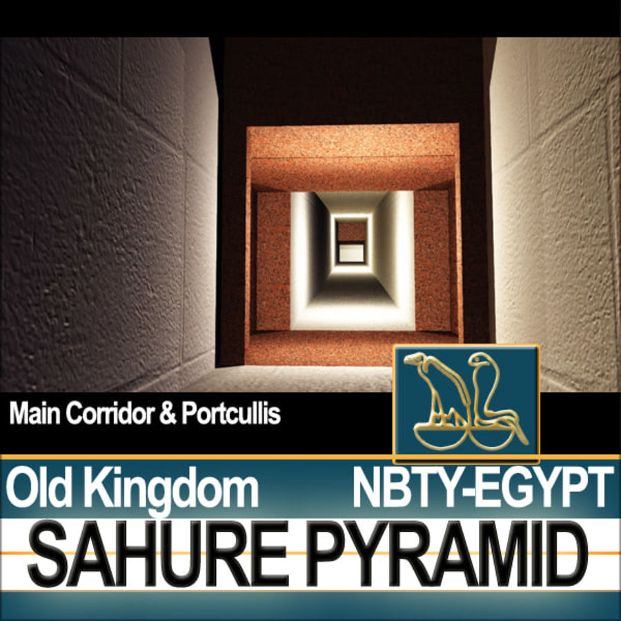 Ancient Egypt Pyramid Sahure royalty-free 3d model - Preview no. 7