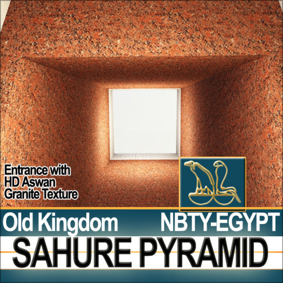 Ancient Egypt Pyramid Sahure royalty-free 3d model - Preview no. 8