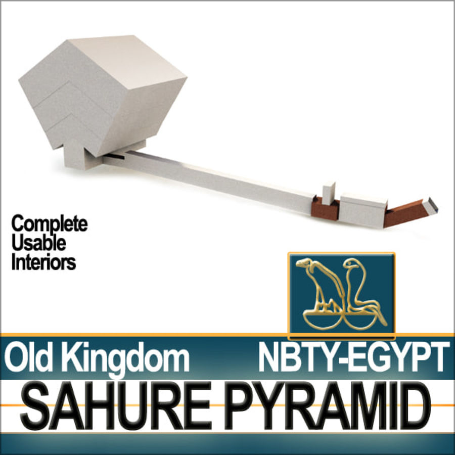 Ancient Egypt Pyramid Sahure royalty-free 3d model - Preview no. 5
