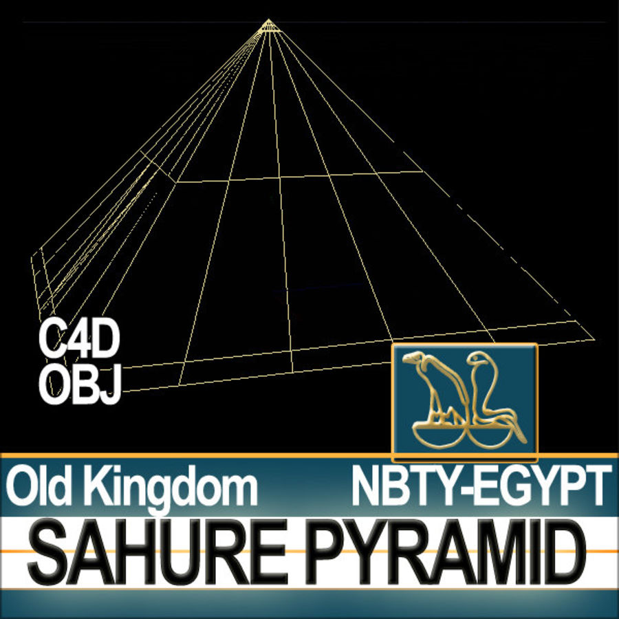 Ancient Egypt Pyramid Sahure royalty-free 3d model - Preview no. 9
