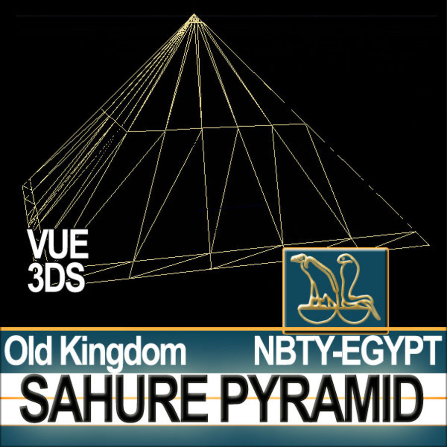 Ancient Egypt Pyramid Sahure royalty-free 3d model - Preview no. 10