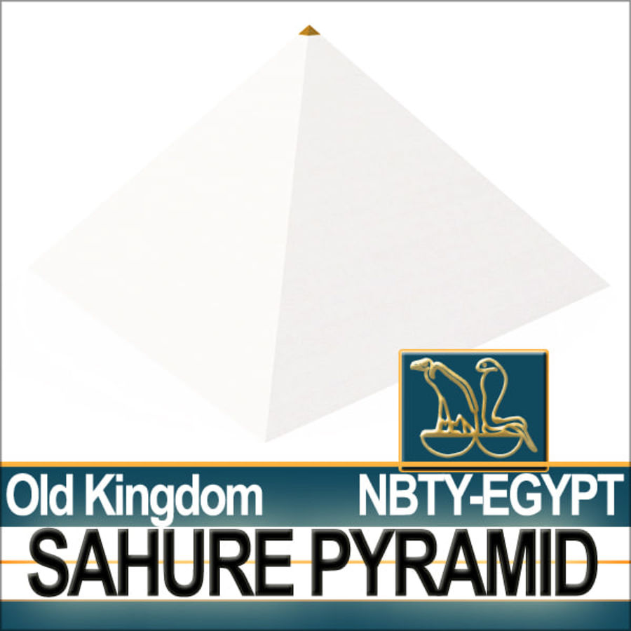 Ancient Egypt Pyramid Sahure royalty-free 3d model - Preview no. 3