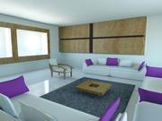 白紫ホールルーム 3d model