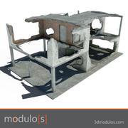 3dmodulos ruin building destructions H 3d model