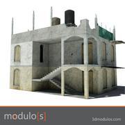 3dmodulos förstör byggnad I 3d model