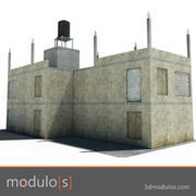 3dmodulos förstör byggnad J 3d model