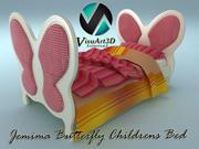Джемима бабочка детская кровать 3d model