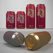 Beer & Soda can 330 ml 500 ml 3d model