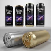 Energy drink can 250 ml 330 ml 3d model
