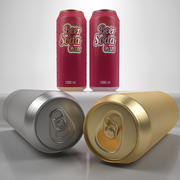 Beer can 1000 ml 3d model