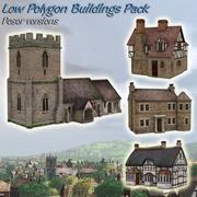 Low-Poly-Gebäude 3d model