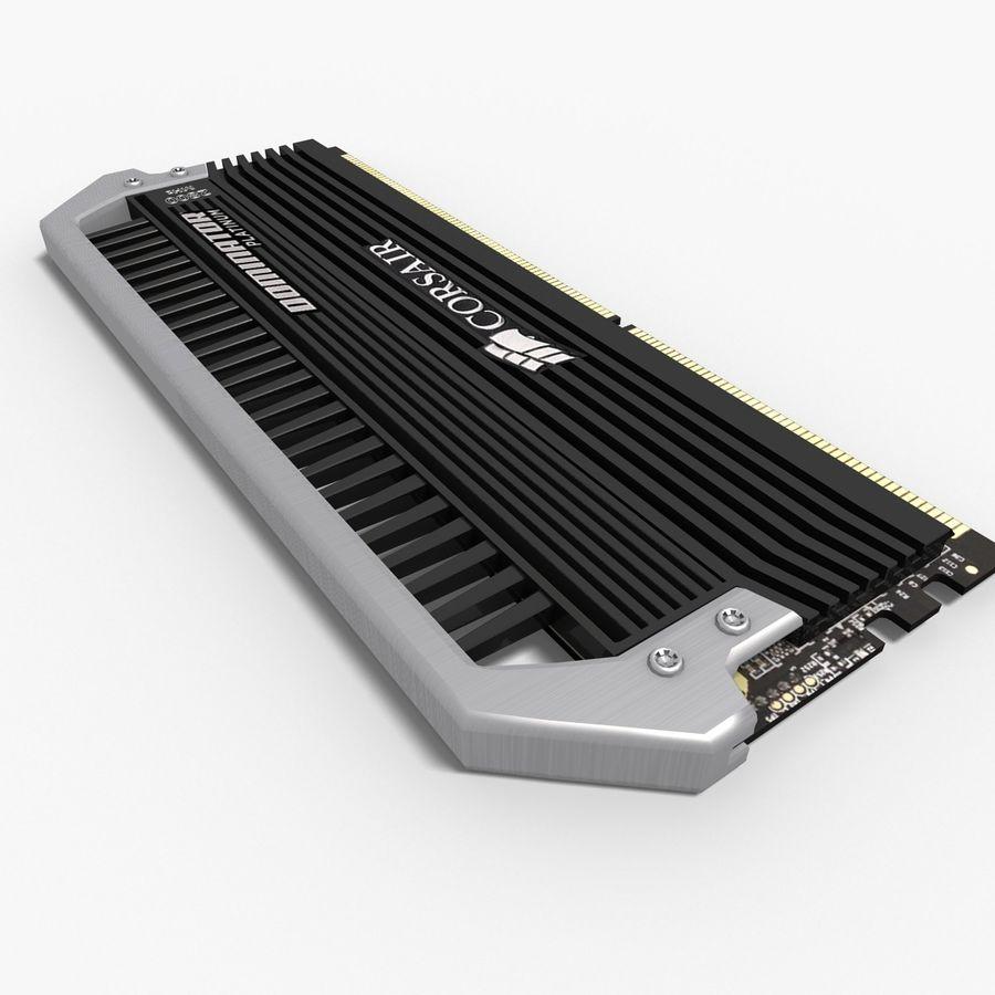 RAM Corsair royalty-free 3d model - Preview no. 10