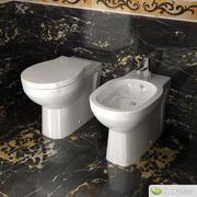 杜拉维特厕所和坐浴盆 3d model