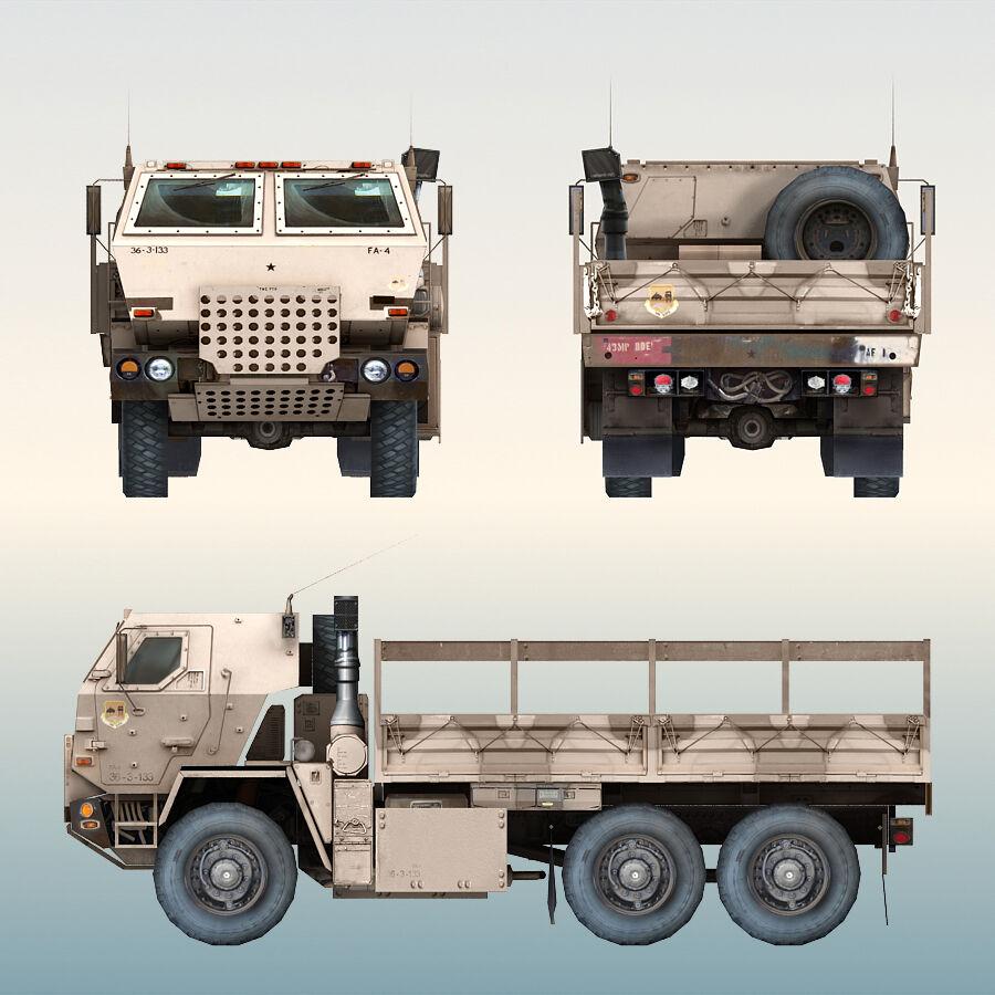 ВОЕННЫЙ АВТОМОБИЛЬ M1078 ГРУЗ royalty-free 3d model - Preview no. 3