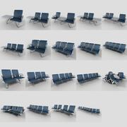 Juego de asientos de aeropuerto modelo 3d