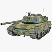 Al-Zarrar Paquistão Main Battle Tank Rigged 3d model
