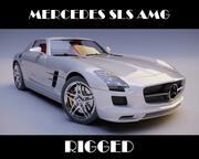 Mercedes SLS AMG uzbrojony 3d model