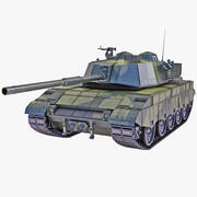 Al-Zarrar Paquistão Main Battle Tank 2 3d model