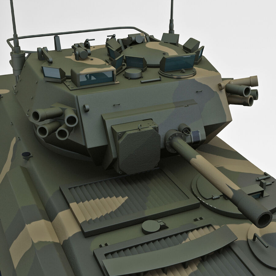 Armored Fighting Vehicle AVGP Grizzly royalty-free 3d model - Preview no. 19