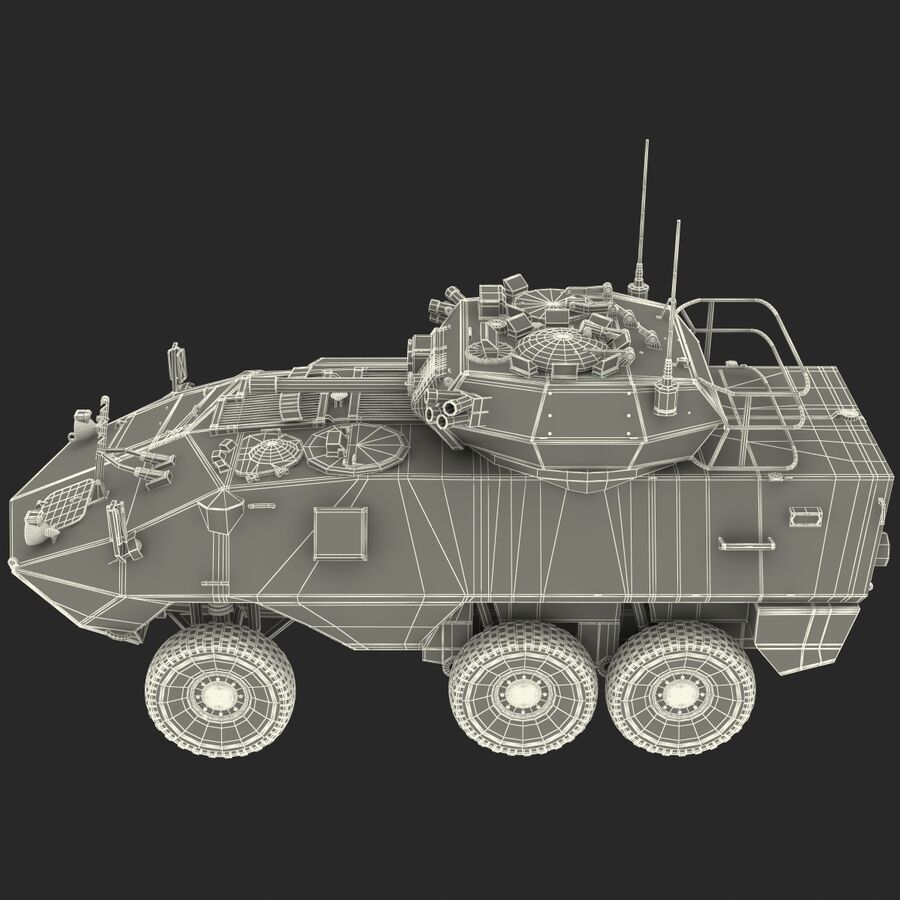 Armored Fighting Vehicle AVGP Grizzly royalty-free 3d model - Preview no. 37
