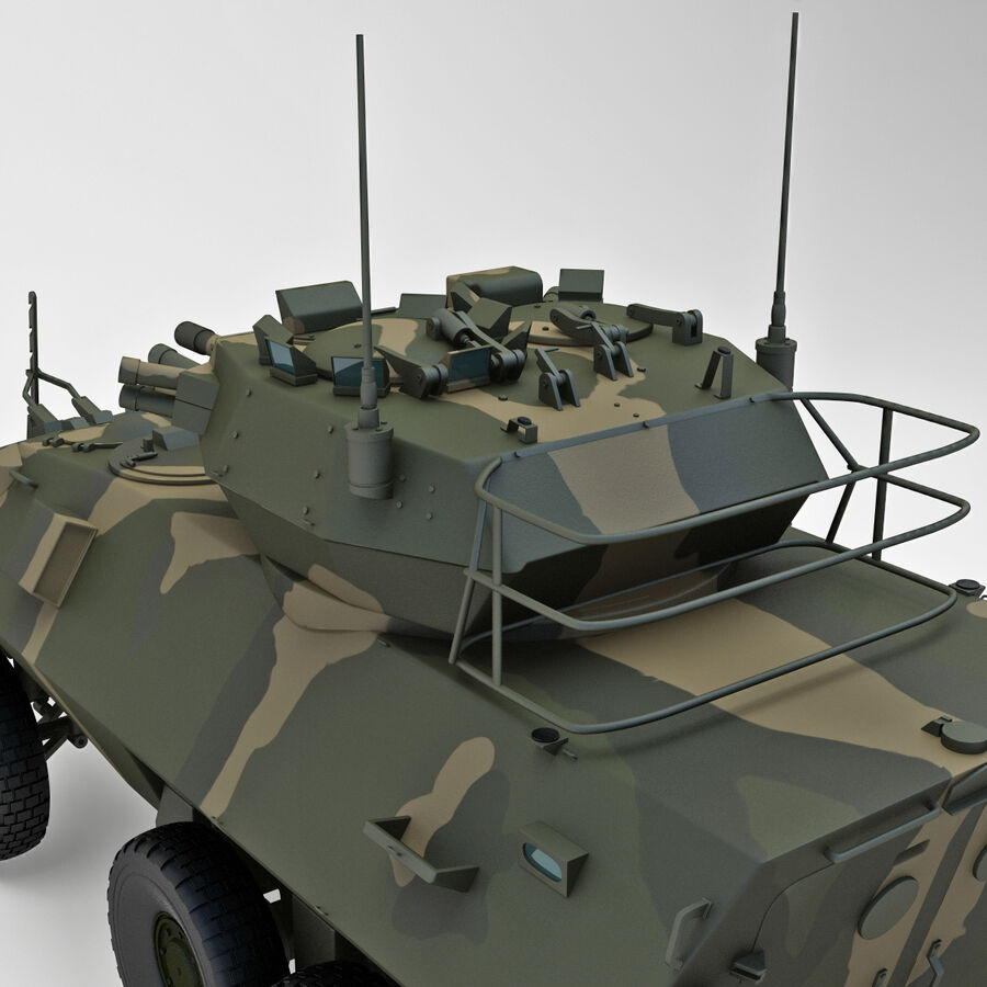 Armored Fighting Vehicle AVGP Grizzly royalty-free 3d model - Preview no. 30
