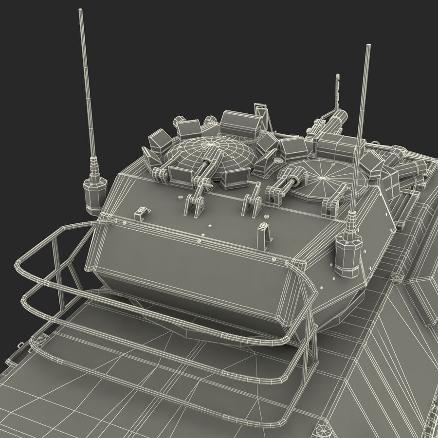 Armored Fighting Vehicle AVGP Grizzly royalty-free 3d model - Preview no. 52
