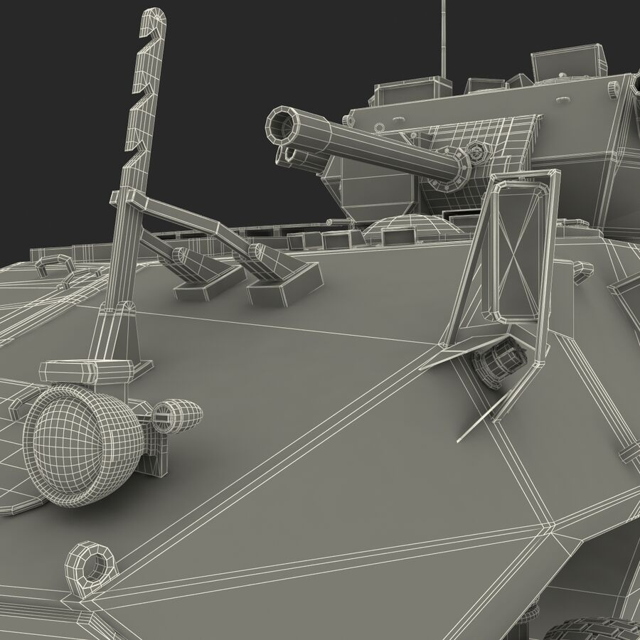 Armored Fighting Vehicle AVGP Grizzly royalty-free 3d model - Preview no. 51