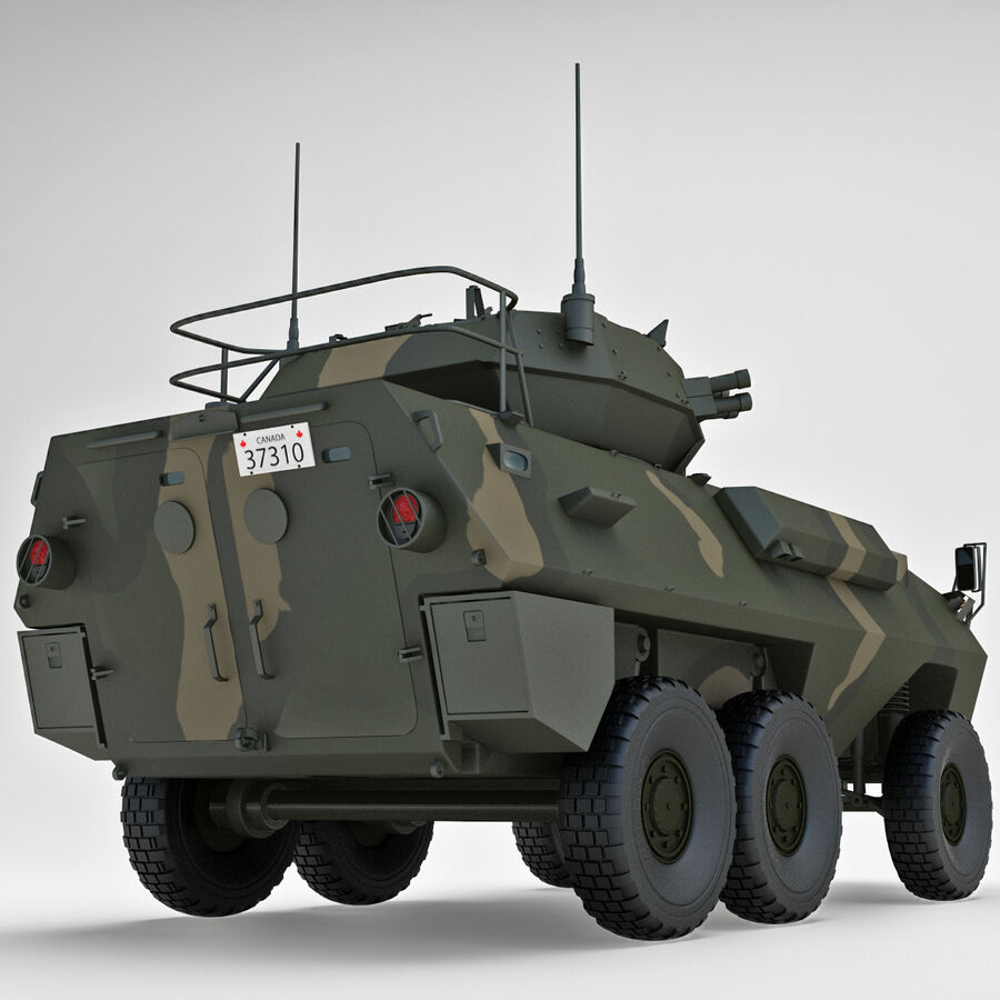 Armored Fighting Vehicle AVGP Grizzly royalty-free 3d model - Preview no. 18